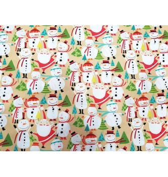 Patchwork blago Winter wonderland | snowmen candy |110cm