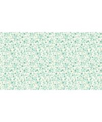 MAKOWER Patchwork blago Tonal floral turquoise | 110cm 1905/T