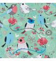Zaljubljene ptice | stara zelena | 95%CO / 5%EL